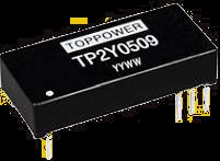 DC-DC преобразователи в стандартных корпусах SIP и DIP серии TP2Y