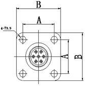Блочная часть с патрубком для кабеля герметичных разъемов fq18