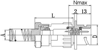 Блочная часть с патрубком для кабеля герметичных разъемов fq30