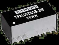 DC-DC преобразователи в стандартных корпусах SIP и DIP серии TP2L-3W